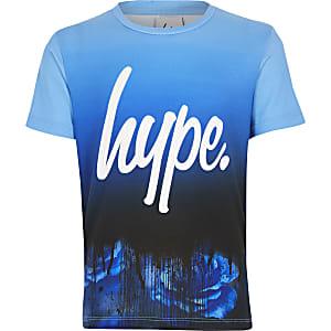 Hype – T-shirt bleu imprimé pour garçon