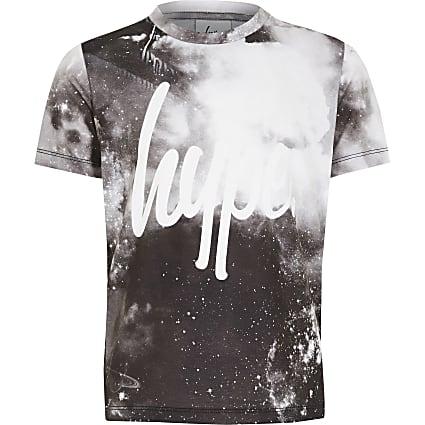 Boys Hype black printed T-shirt