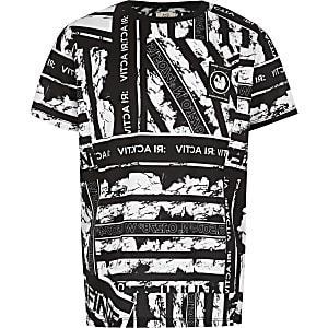 RI Active– Schwarzes, bedrucktes T-Shirt für Jungen
