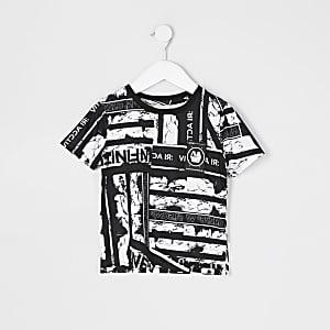 Mini– Bedrucktes T-Shirt in Schwarz für Jungen von RI Active
