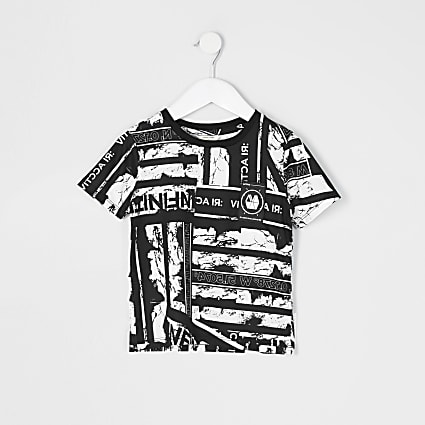 Mini boys RI Active black printed T-shirt