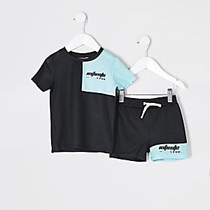 Mini - RI Active - Zwart T-shirt outfit voor jongens