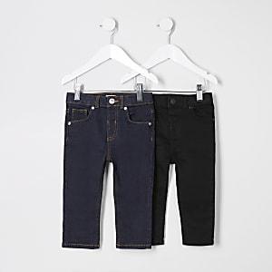 Mini – Sid – Schwarze Skinny Jeans für Jungen, 2er-Pack
