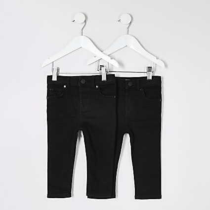 Mini boys black skinny jeans 2 pack