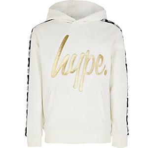 RI x Hype - Witte hoodie met reliëf voor kinderen