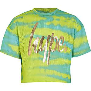 RI x Hype – T-shirt en resille imprimé vert pour fille