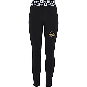 Girls RI x Hype black leggings