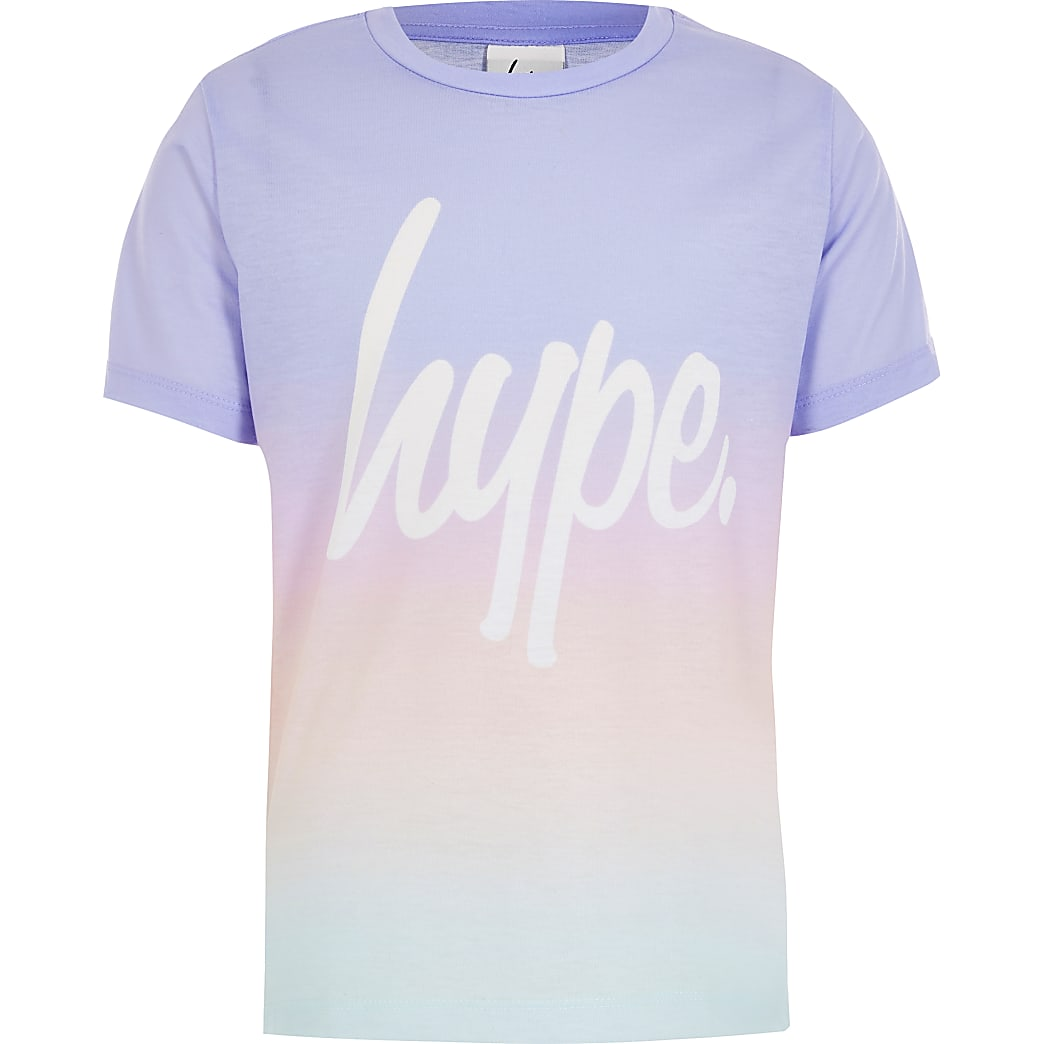 Girls Hype purple ombre printed T-shirt