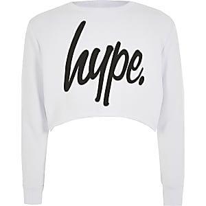 Hype – Sweat court blanc pour fille