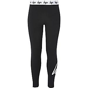 Hype – Schwarze, bedruckte Leggings für Mädchen