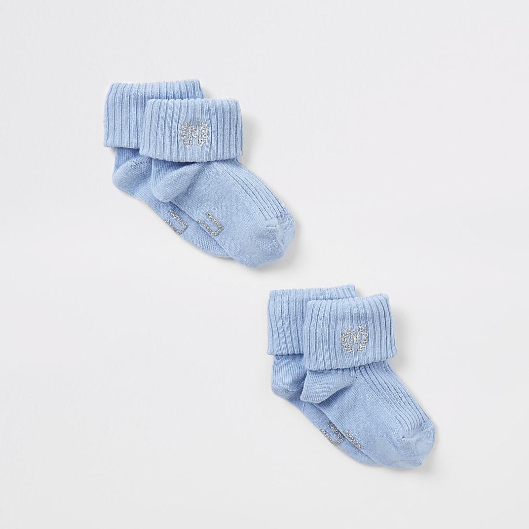 Blue RI embroidered socks 2 pack