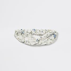 Twist-Haarband mit blauem Blumenmuster für Mädchen