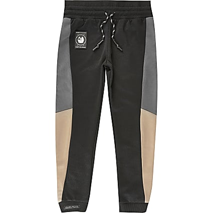Boys RI Active black blocked joggers