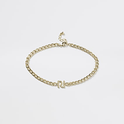 Girls gold RI chain choker necklace