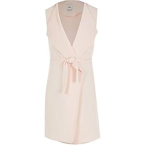 Roze dusterjas met strikceintuur voor meisjes