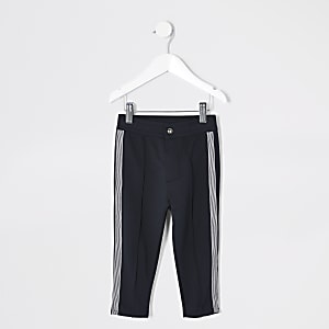 Pantalon de jogging à bande bleu marine Mini garçon