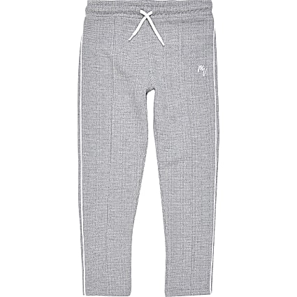 Boys grey textured joggers