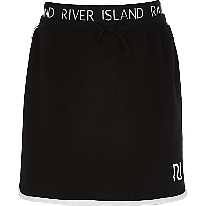Girls black RI runner skirt