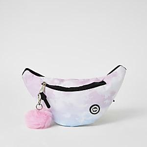 Hype - Roze heuptasje met print en pompon voor meisjes