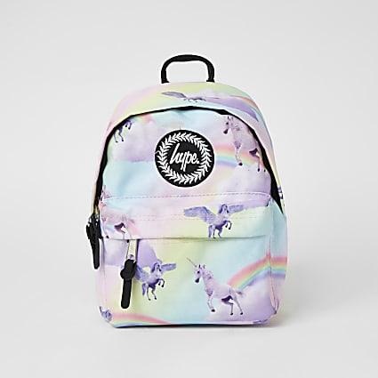 Girls Hype pink unicorn printed bumbag