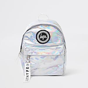 Hype – Mädchen-Rucksack aus irisierendem Material in Silber