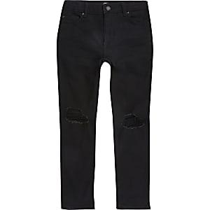 Danny - Zwarte ripped superskinny jeans voor jongens