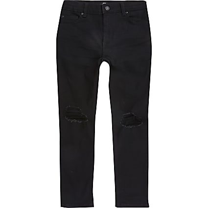 Boys black ripped Danny super skinny jeans
