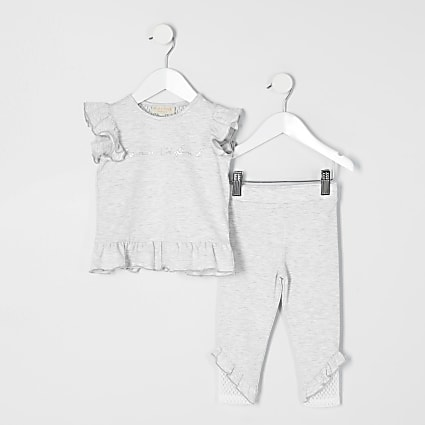 Mini girls RI Active grey T-shirt outfit