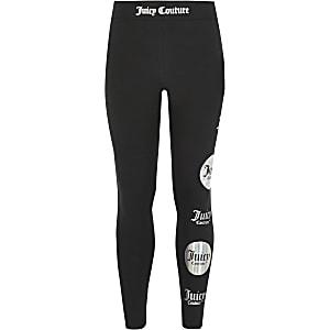 Juicy Couture -Leggings noirs avec imprimépour fille