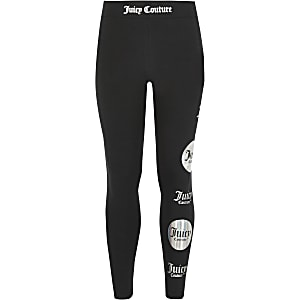Juicy Couture - Zwarte legging met print voor meisjes