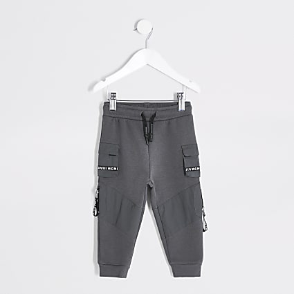 Mini boys grey MCMLX utility joggers