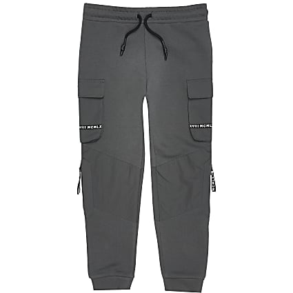 Boys grey MCMLX utility joggers