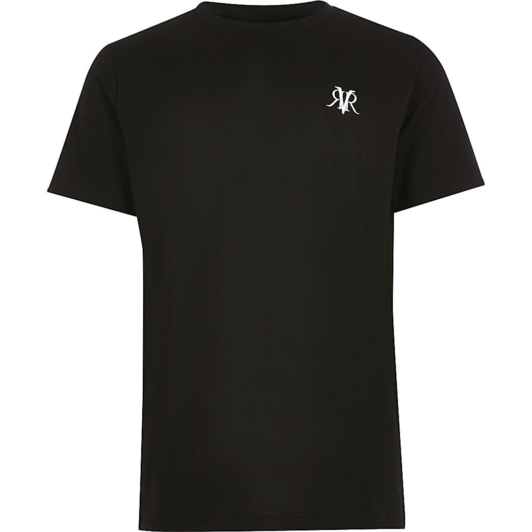 Schwarzes RVR-T-Shirt für Jungen