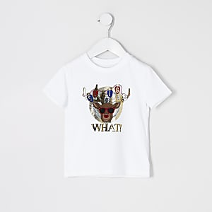 Mini - Kerst T-shirt met rendierprint voor jongens