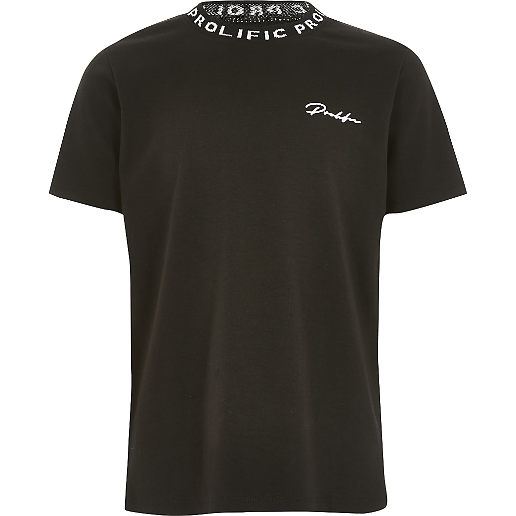 Boys black Prolific T-shirt