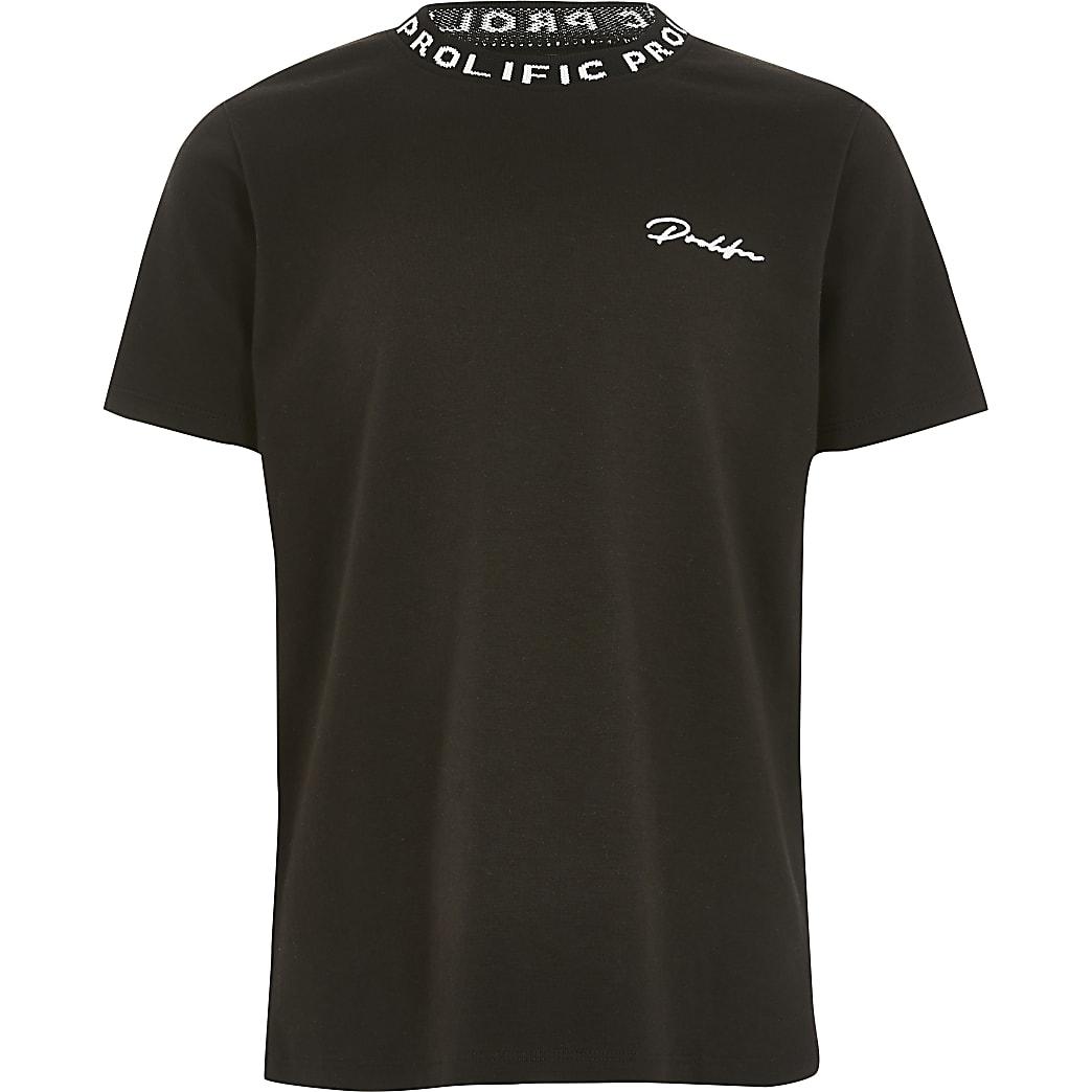 Prolific – Schwarzes T-Shirt für Jungen