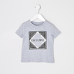 """T-Shirt """"Exclusive"""" in Grau für kleine Jungen"""