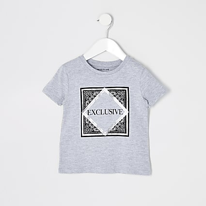 Mini boys grey 'Exclusive' T-shirt