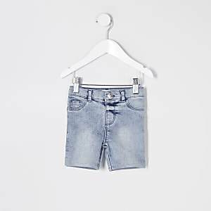 Mini – Blaue Molly-Radlershorts aus Jeansstoff für Mädchen