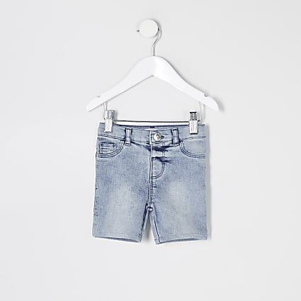 Mini girls blue Molly denim cycling shorts