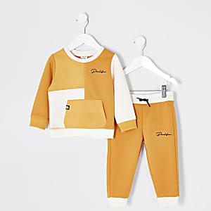 Mini – Prolific – Sweatshirt-Outfit in Gelb für Jungen