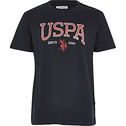 Boys U.S. Polo Assn.navy printed T-shirt