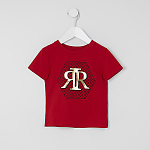 T-shirt rouge impriméRI Minigarçon