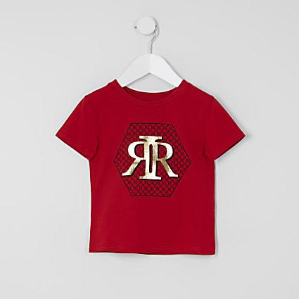 Mini boys red RI print T-shirt