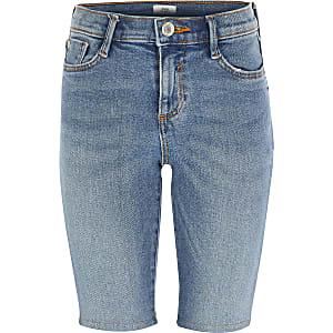 """Blaue Jeans-Radlerhosen """"Amelie"""" für Mädchen"""
