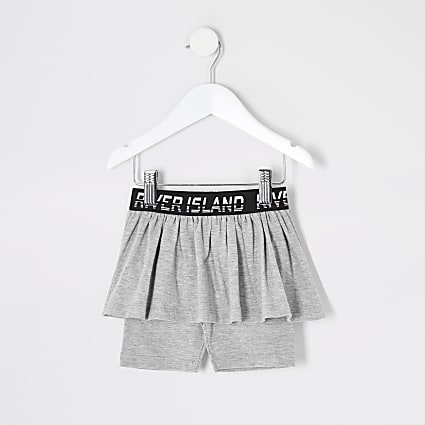 Mini girls grey RI cycling short skirt