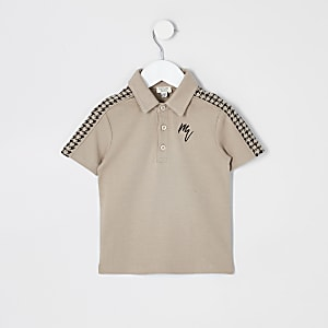 Dogtooth tape - Mini-Poloshirt fûr Jungen in Steingrau