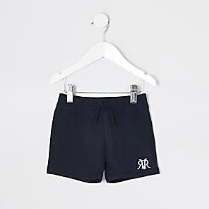 Mini - Marineblauwe RVR shorts voor jongens