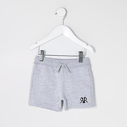 Mini boys grey marl RVR shorts