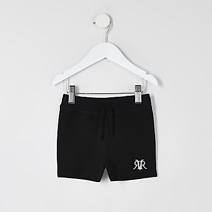 Mini boys black RVR shorts
